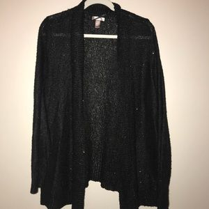 Black shinning cardigan